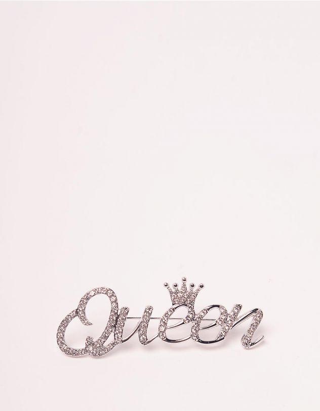 Брошка з написом Queen | 245573-06-XX - A-SHOP