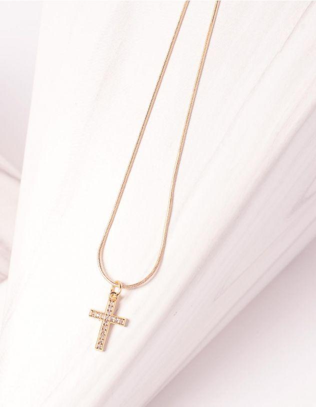 Підвіска з кулоном у вигляді хрестика | 244677-08-XX - A-SHOP