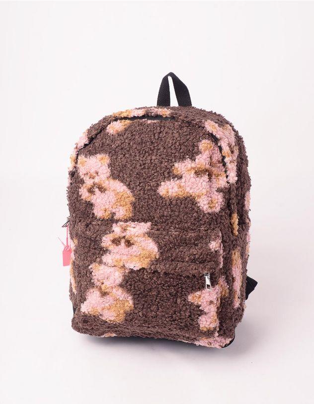 Рюкзак хутряний із зображенням ведмедиків | 246023-71-XX - A-SHOP