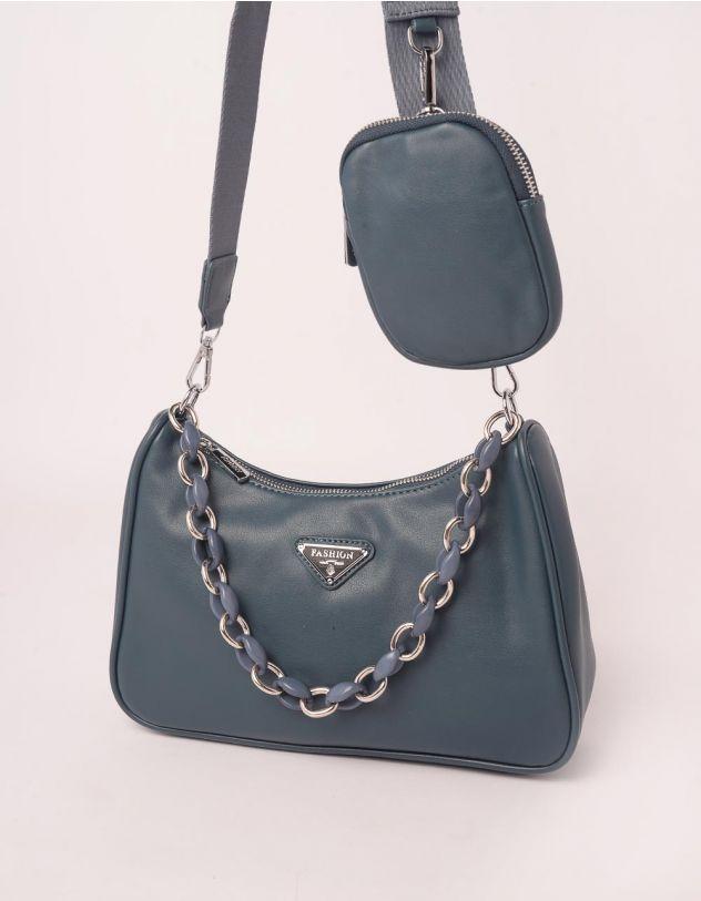 Сумка на плече з гаманцем та ланцюжком | 250128-31-XX - A-SHOP