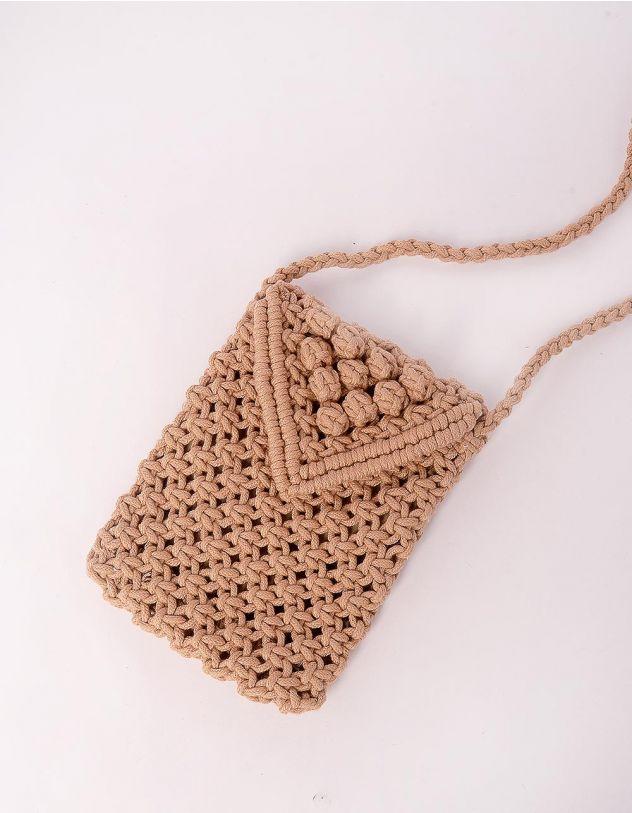 Сумка для телефону у вигляді конверту плетена | 245451-39-XX - A-SHOP