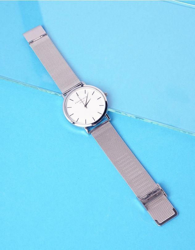 Годинник з металевим ремінцем та круглим циферблатом | 237301-05-XX - A-SHOP