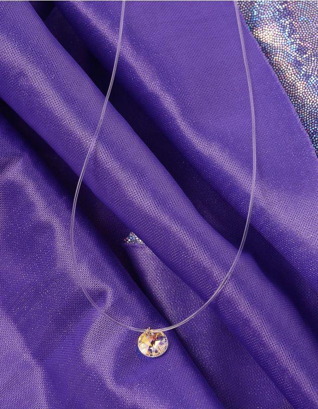 Чокер із волосіні з маленьким кулоном   228566-08-XX - A-SHOP
