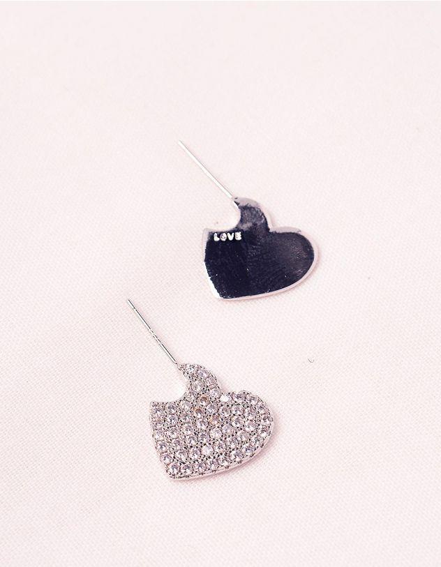 Сережки з серцями | 245192-06-XX - A-SHOP