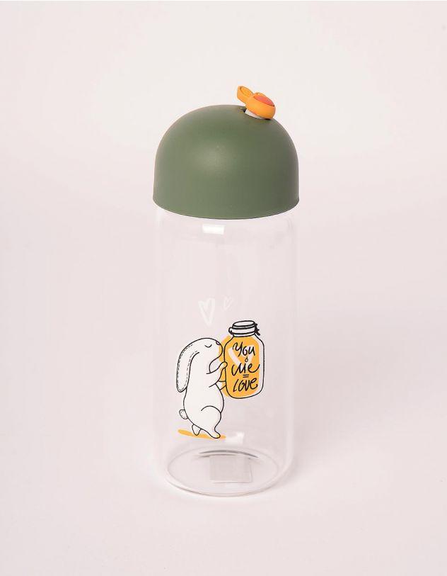 Пляшечка з принтом кроликів | 245565-20-XX - A-SHOP