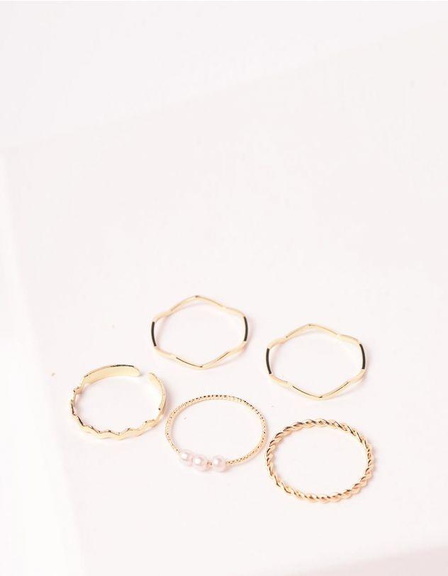 Кільця плетені з перлинами   246558-08-XX - A-SHOP