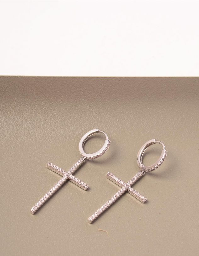 Сережки з хрестиками | 245469-06-XX - A-SHOP