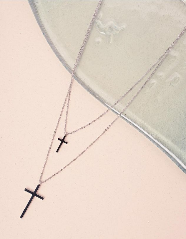 Підвіска подвійна з хрестиками | 239803-05-XX - A-SHOP