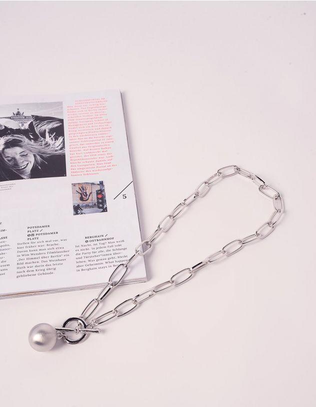 Підвіска на шию у вигляді ланцюга з перлиною | 240265-05-XX - A-SHOP
