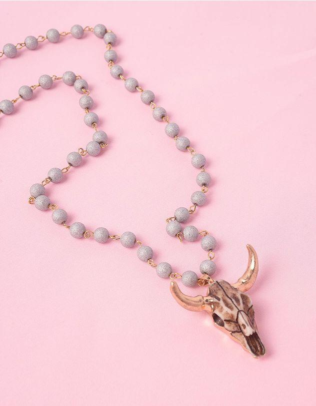 Підвіска намисто з кулоном у вигляді черепа вола   245038-11-XX - A-SHOP