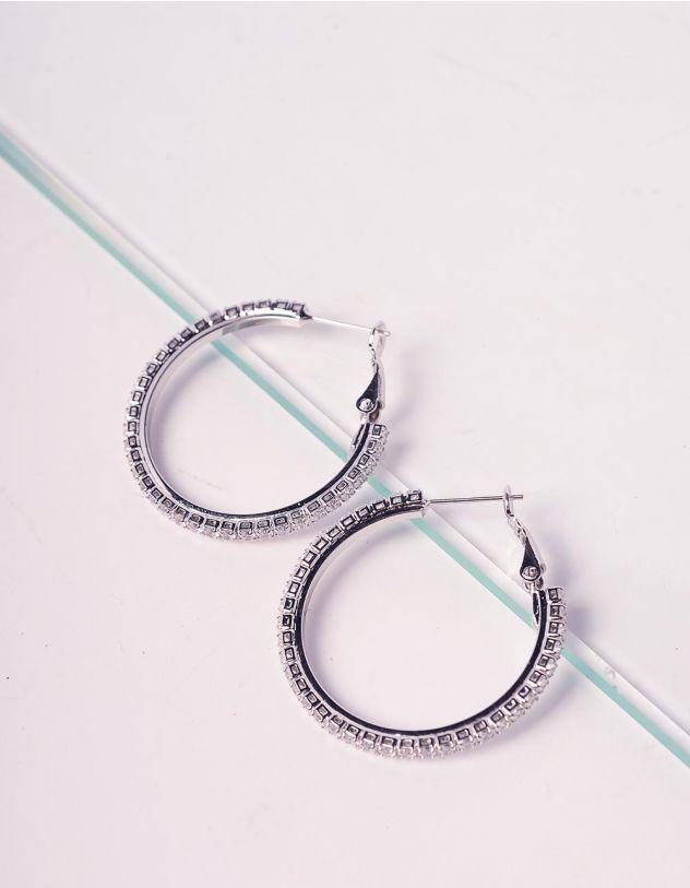 Сережки кільця зі стразами | 241157-06-XX - A-SHOP
