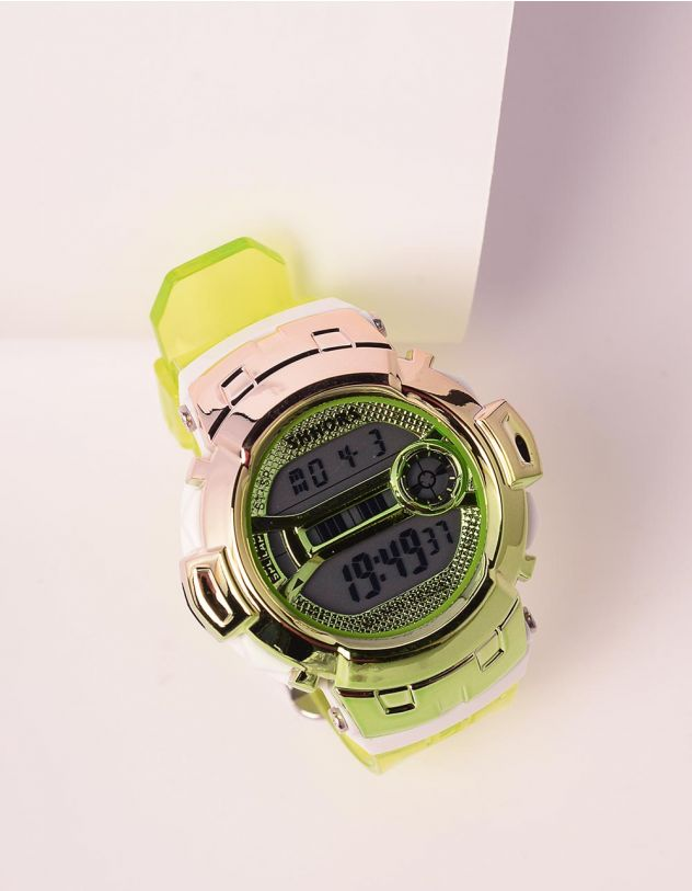 Годинник спортивний з прозорим градієнтним ремінцем | 238592-20-XX - A-SHOP