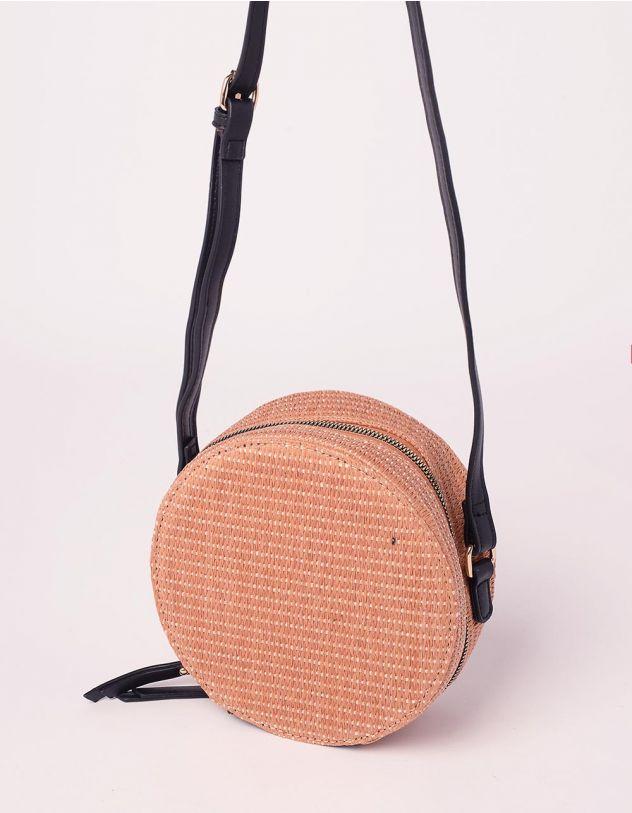 Сумка через плече кругла плетена | 239492-39-XX - A-SHOP