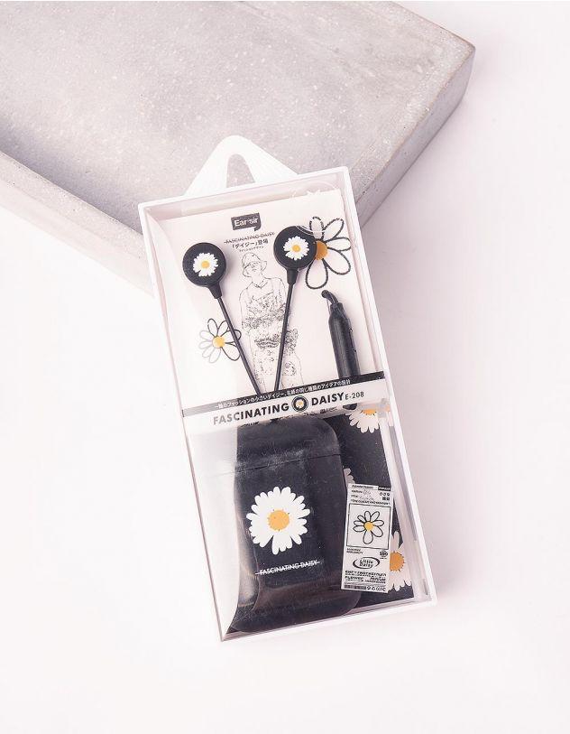 Навушники з принтом ромашки   243944-02-XX - A-SHOP