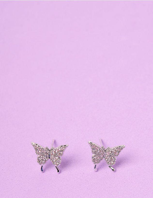 Сережки пусети у вигляді метеликів | 247092-06-XX - A-SHOP