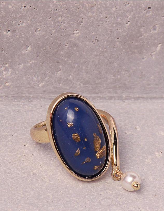 Кільце з камінням та перлиною | 249730-13-36 - A-SHOP