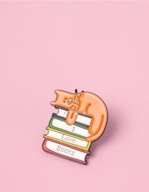 Брошка у вигляді киці на книжках   245667-26-XX - A-SHOP