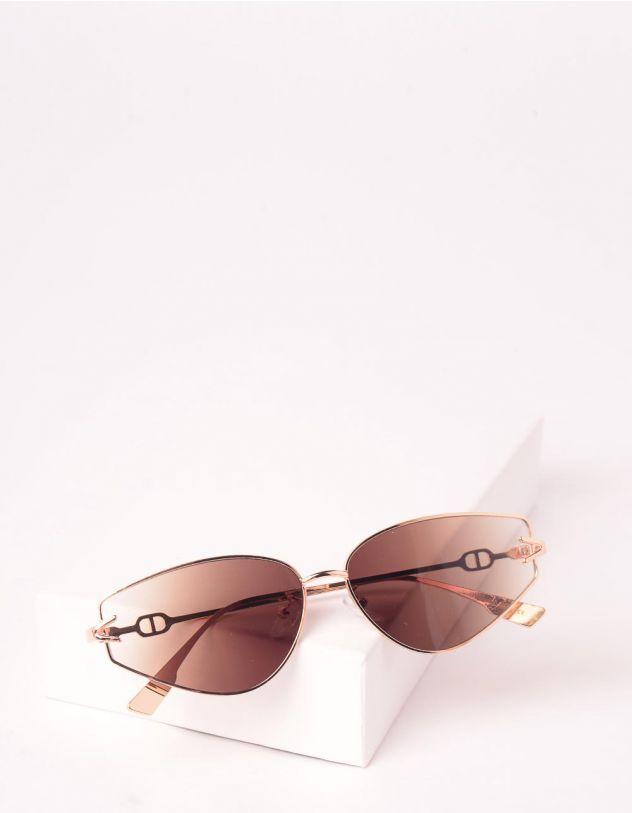 Окуляри сонцезахисні лисички вузькі з градієнтними лінзами | 245440-12-XX - A-SHOP