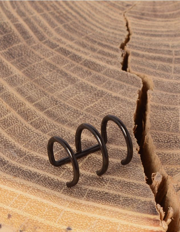 Сережка обманка з трьох кілець | 234488-02-XX - A-SHOP