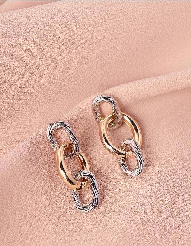 Сережки у вигляді ланцюжка | 245646-08-XX - A-SHOP