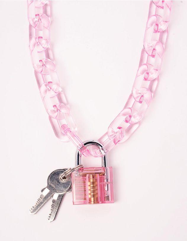 Підвіска ланцюжок на шию з замком та ключами   244063-14-XX - A-SHOP