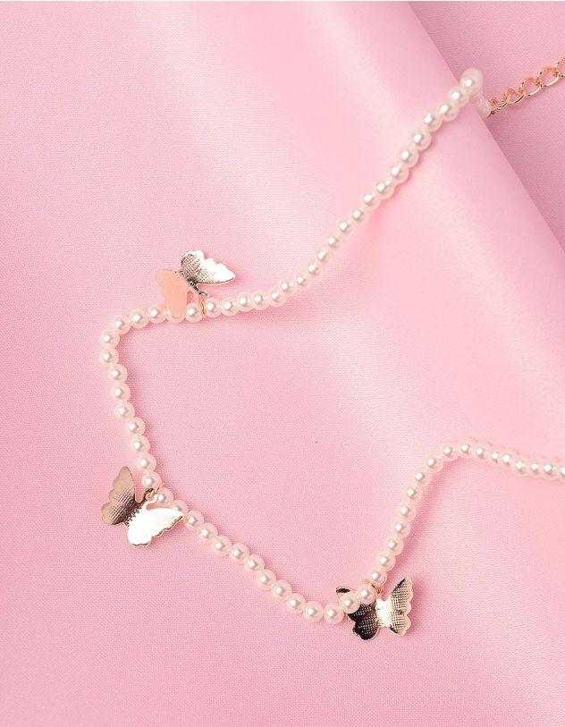 Чокер із перлин з метеликами | 242670-08-XX - A-SHOP