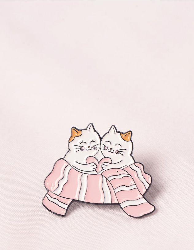 Брошка у вигляді котиків   245671-14-XX - A-SHOP