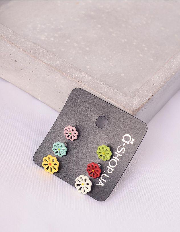 Сережки пусети у наборі з квітками | 242552-21-XX - A-SHOP