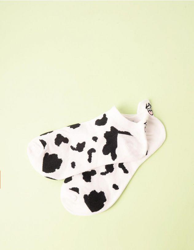 Шкарпетки з принтом корівки | 245384-01-XX - A-SHOP