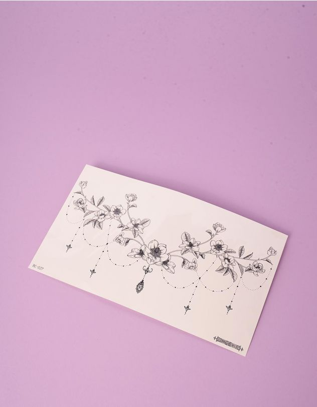 Тату тимчасове із зображенням квітів | 249196-02-XX - A-SHOP