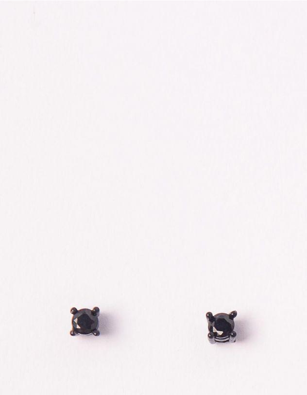 Сережки пусети зі стразами   248722-02-XX - A-SHOP