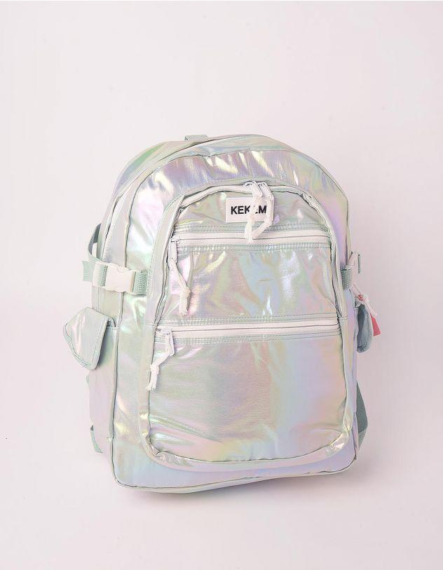 Рюкзак для міста з кишенями голографічний | 248981-37-XX - A-SHOP