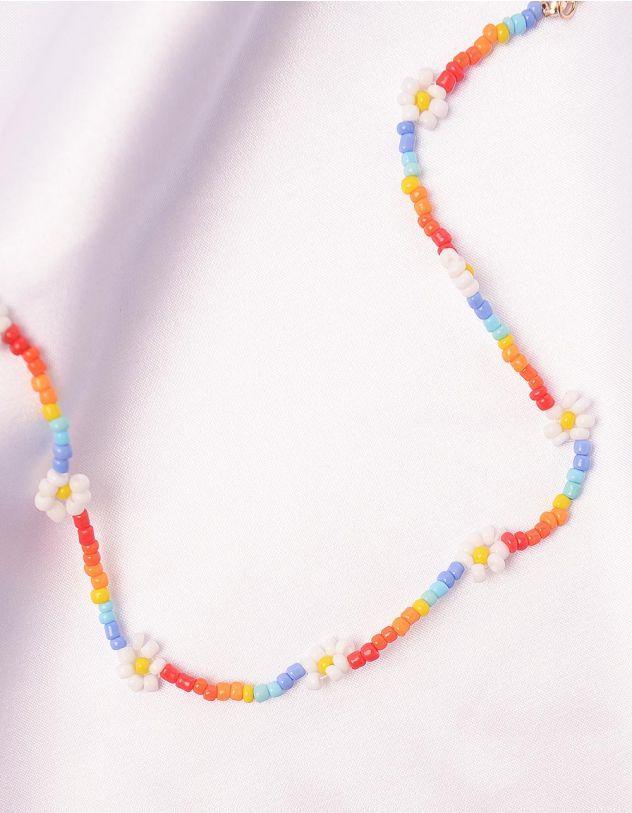 Чокер із кольорових намистин з ромашками | 247280-21-XX - A-SHOP