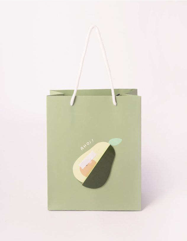 Пакет подарунковий з принтом фруктів | 240700-20-XX