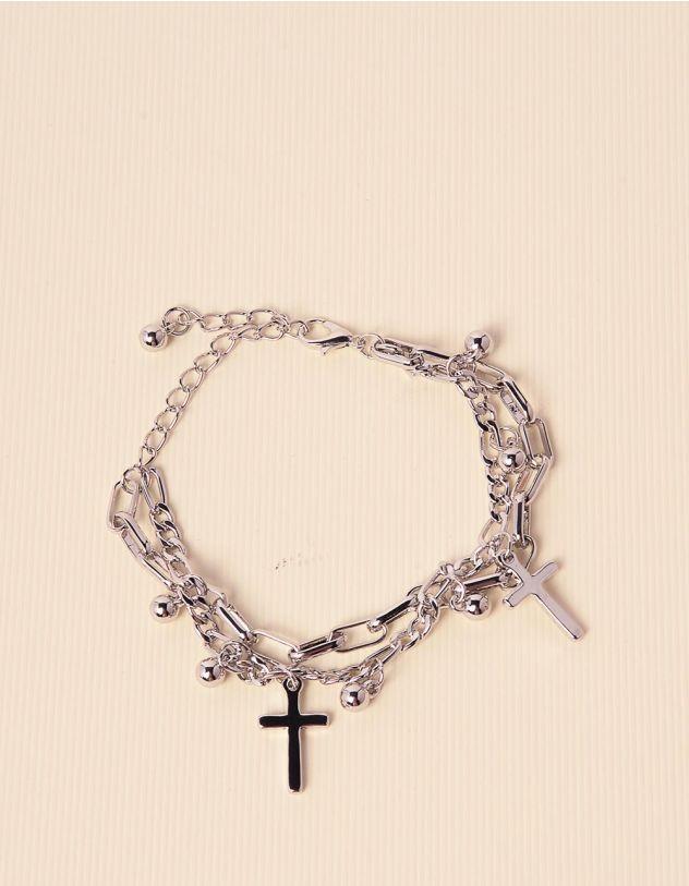 Браслет на руку із ланцюжків з хрестиками | 238573-05-XX - A-SHOP