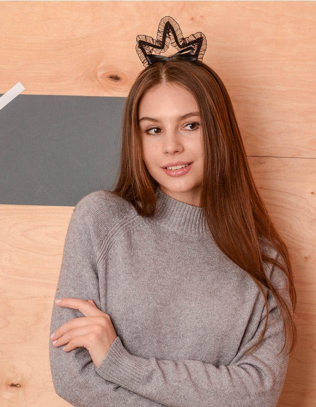 Обруч для волосся з мереживною короною | 236844-02-XX - A-SHOP