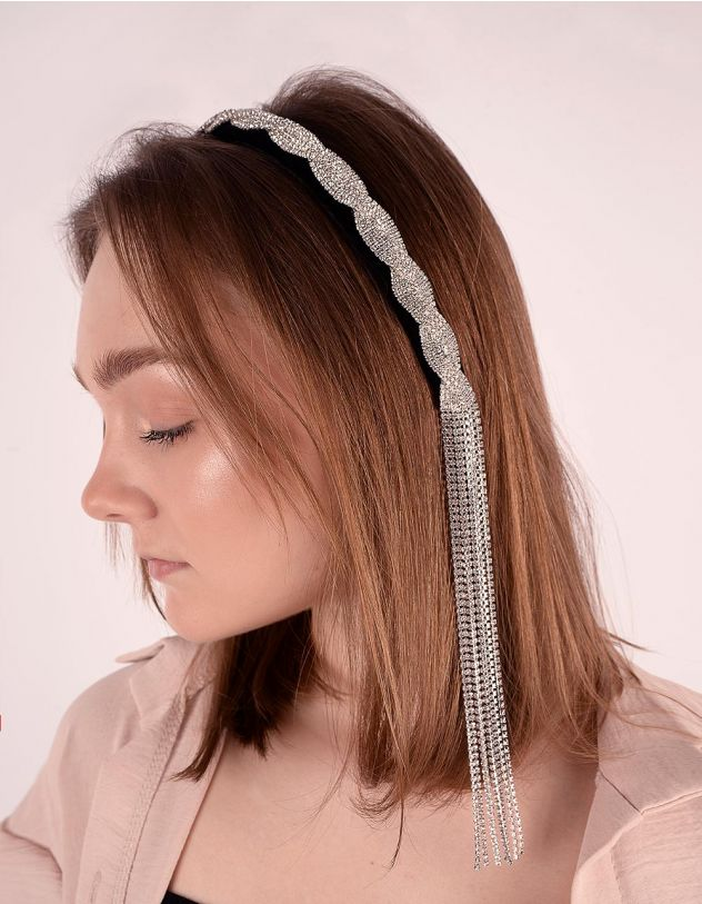 Обідок для волосся декорований стразами | 246819-07-XX - A-SHOP
