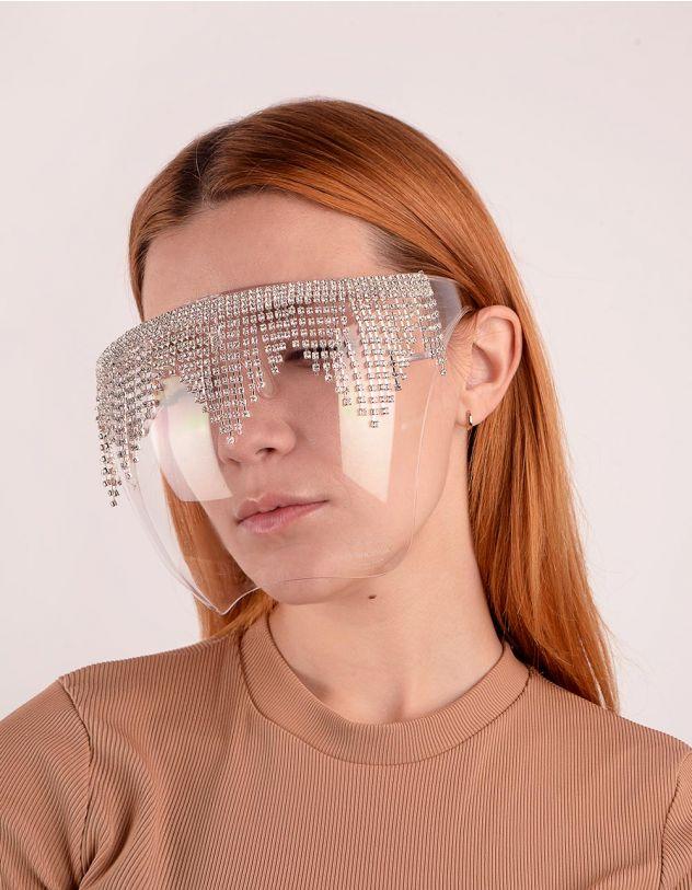 Окуляри маска зі стразами | 249454-06-XX - A-SHOP