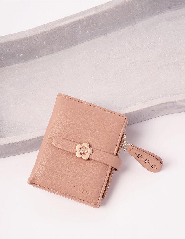 Гаманець портмоне жіночий з ромашкою на шльовці | 244924-22-XX - A-SHOP