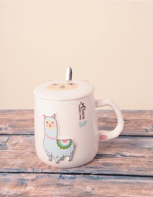 Чашка із зображенням альпака | 239030-18-XX - A-SHOP
