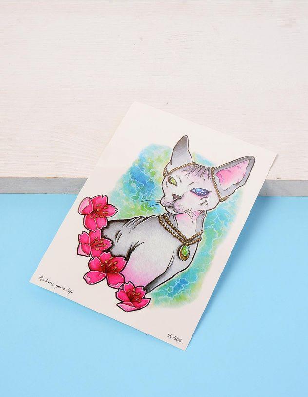 Татуювання тимчасове із зображенням кішки сфінкса | 233775-21-XX