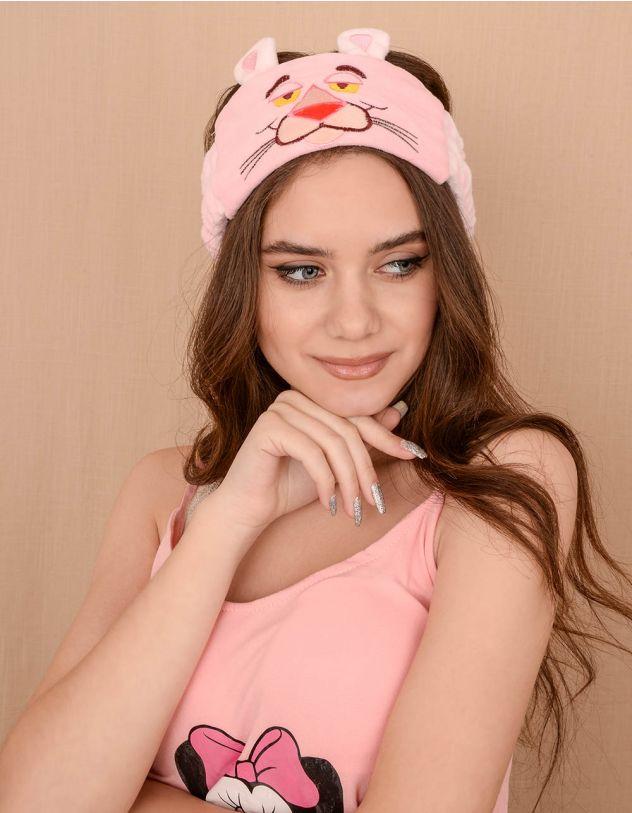 Пов'язка на голову з принтом рожевої пантери   239606-14-XX - A-SHOP