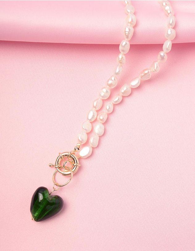 Підвіска на шию із перлин з кулоном  у вигляді серця | 245932-57-XX - A-SHOP