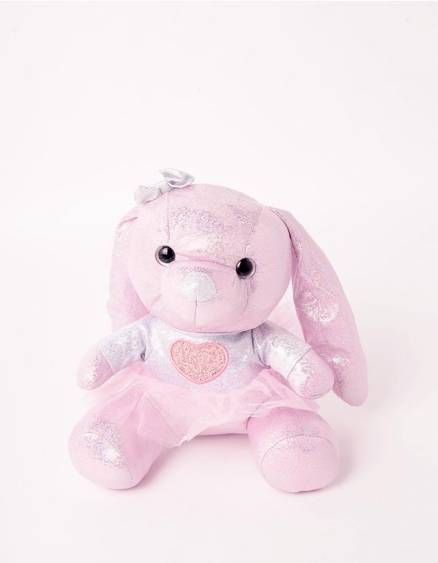 Іграшка м'яка у вигляді зайчика з блискітками | 245417-35-XX - A-SHOP