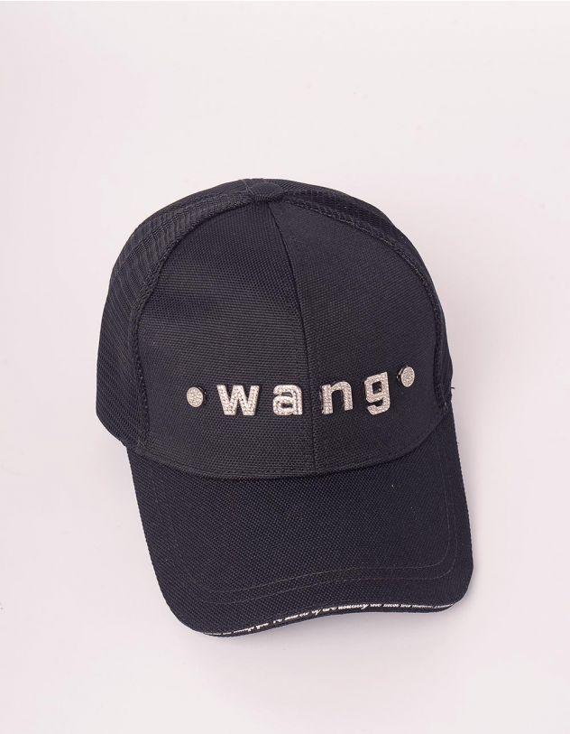 Бейсболка тракер з написом wang із страз | 248769-02-XX - A-SHOP