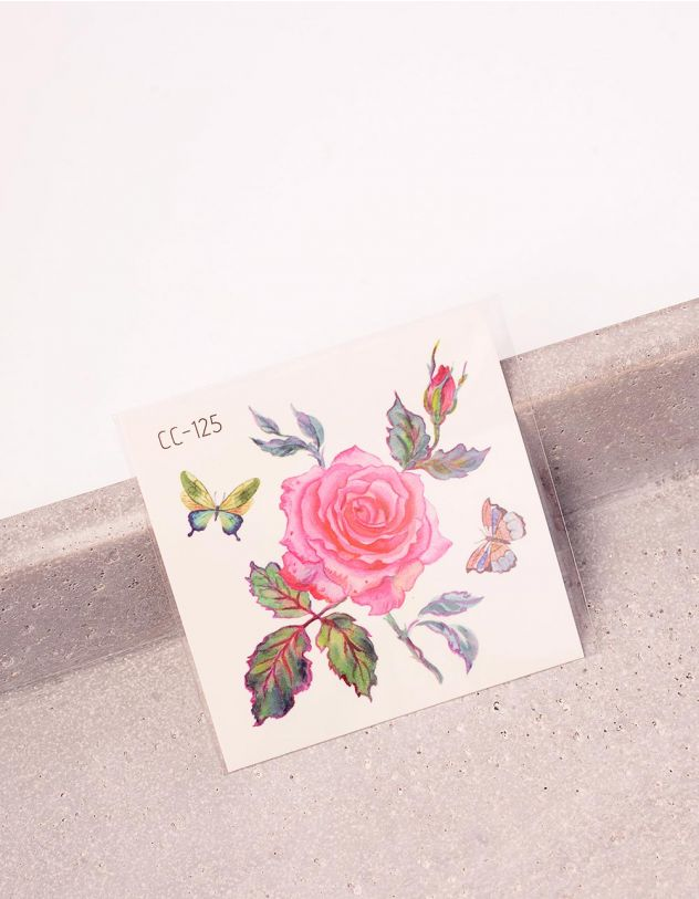 Татуювання тимчасове з принтом троянди   243436-21-XX - A-SHOP