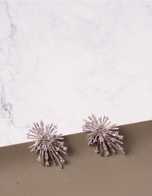 Сережки пусети зі стразами | 240733-06-XX - A-SHOP