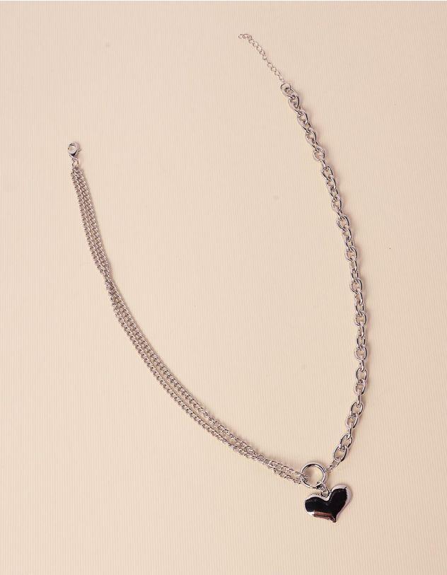 Підвіска із ланцюжків з кулоном у вигляді серця   238578-05-XX
