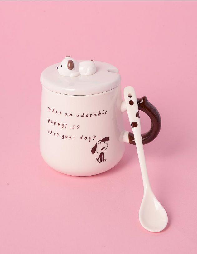 Чашка з ложкою зі звірятком на кришці | 239027-12-XX - A-SHOP