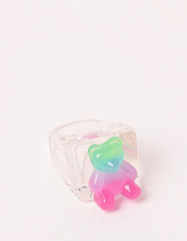Кільце на руку прозоре широке з ведмедиком | 248703-17-36 - A-SHOP